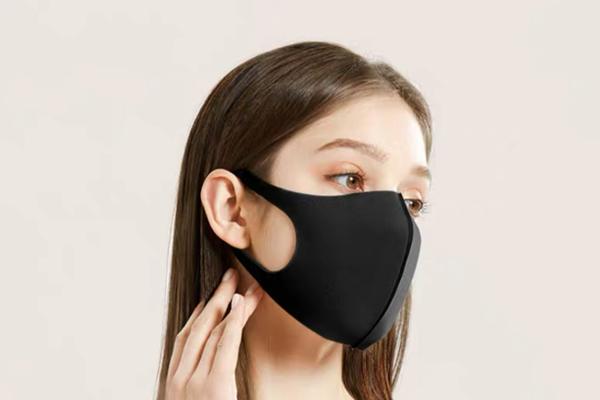黑色海绵口罩怎么分上下